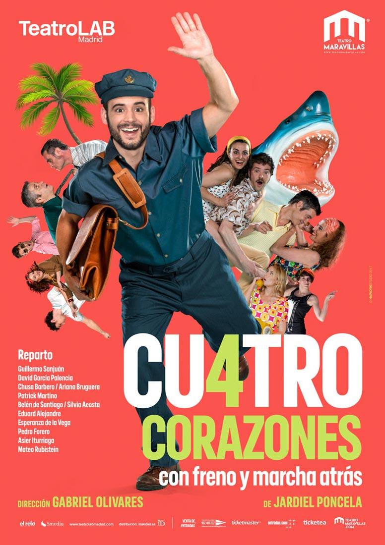 Cartel de Cu4tro Corazones