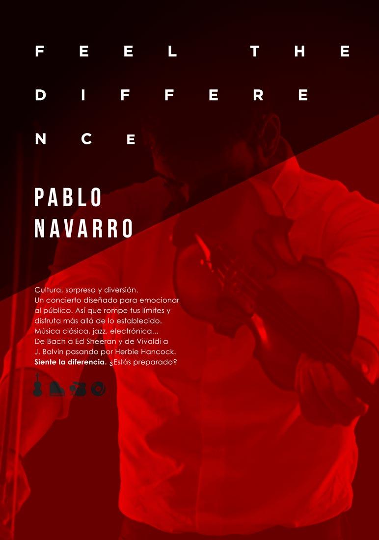 Cartel de Pablo Navarro · Feel The Difference