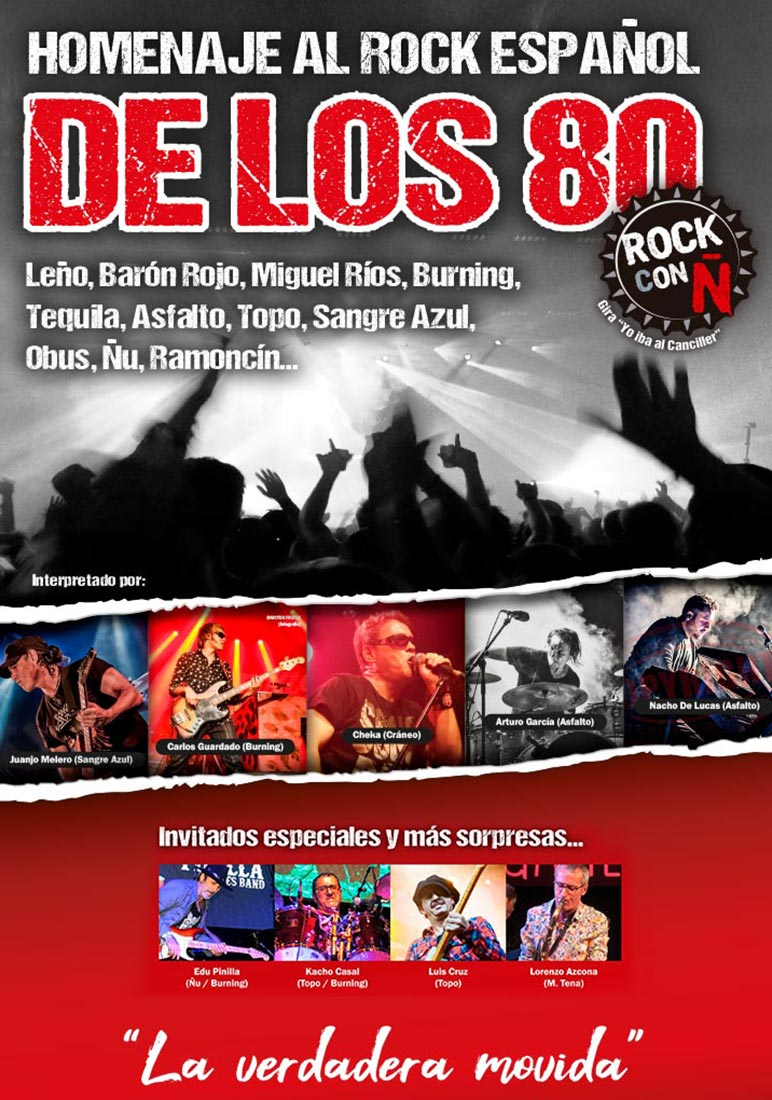 Cartel de Rock con Ñ